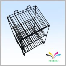 3- Tier plegable diseño de metal Display Cartel Rack para Adornos al por menor