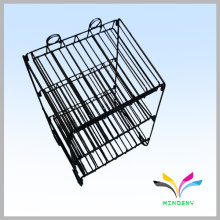 Sturdy knock down 3 shelves counter wire bottle display rack
