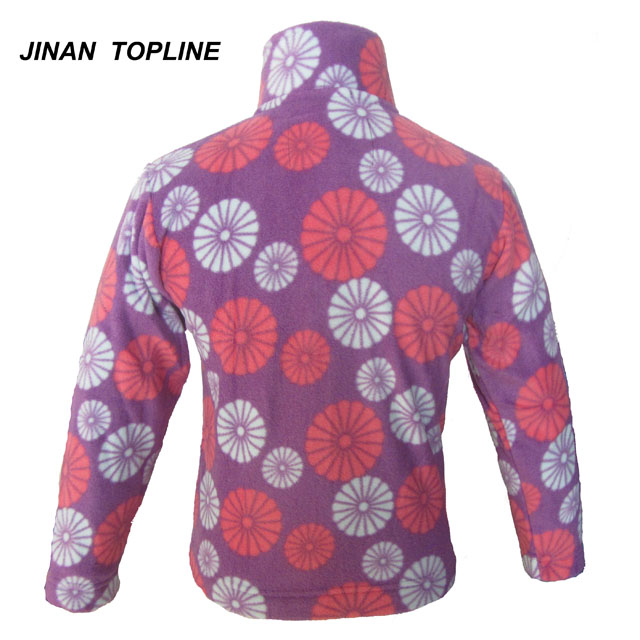 Girls Printed Fleece Jacket