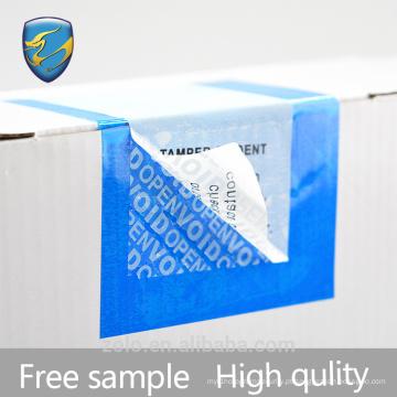 Novo produto Etiqueta anti-falsificação para caixa de operação simples