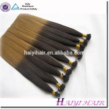 Remy double drawn factory price mini dip dye ombre nano hair extension