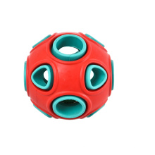 Blue Red Clean Teeth Environmental Protection Material Custom Durable Tough Chew Toys For Dogs