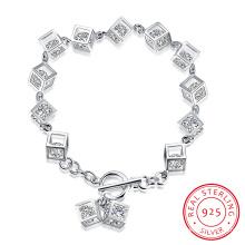 Western-Art-heißer Verkauf 925 Sterlingsilber-Armband dreidimensional und Zircon nach innen