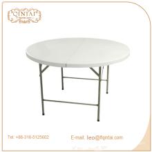 venta al por mayor mesa redonda blanca plegable