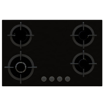 Sabaf Four Burner Tempered Glass Gas Stove