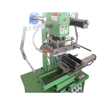 Cylinder hot foil stamping machine for plastic ring