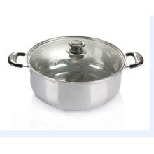 Pot de soupe de cuisson en acier inoxydable