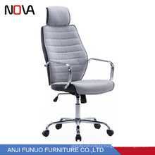 Nova Cheap furniture Grey Fabric Revolving Office Chair With Headrest