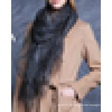 2016 la última moda sintética de seda organza bufanda abrigo mantón