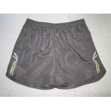 Yj-3015 Hommes Noir Doublé Microfibre Short Sports Running Leisure Pants