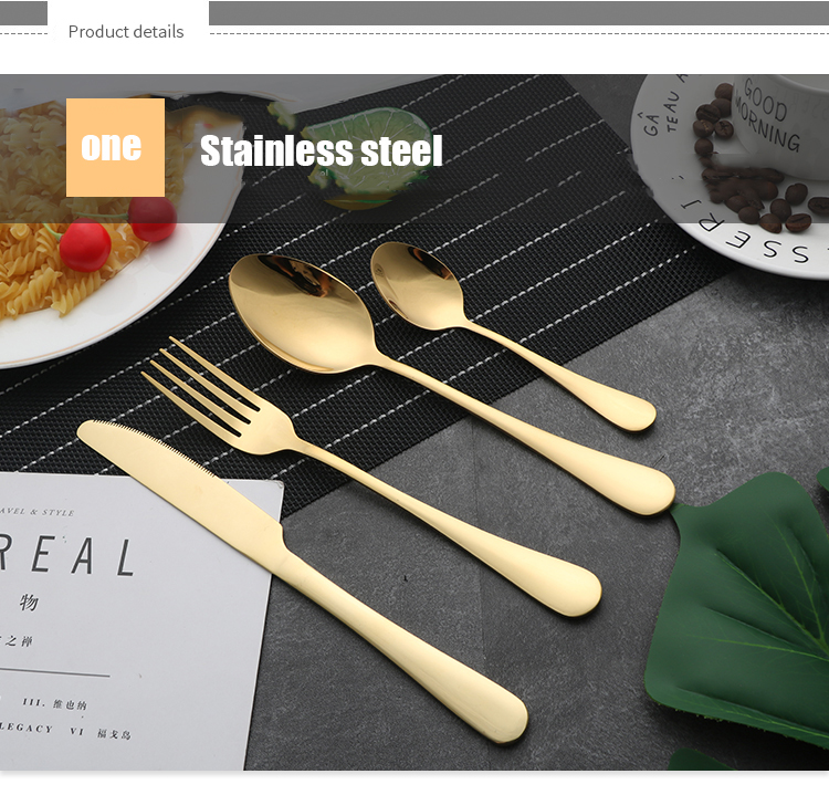 Stainless Steel Gold Cutlery
