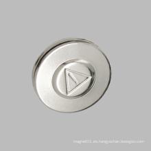 Etiqueta magnética del nombre etiqueta redonda galleta como