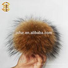 Vente en gros de fourrure de raccoon Fur Pom Poms