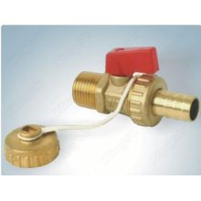 Ball valve with chain