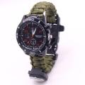 Adjustable Survival Watch Paracord Bracelet Watch