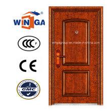 Puerta de cobre de acero inoxidable clásica de la seguridad del metal (W-ST-03)