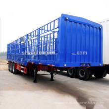 Semi remolque de la estaca del transporte de cargo de la cerca del cuello de cisne de la fabricación de China