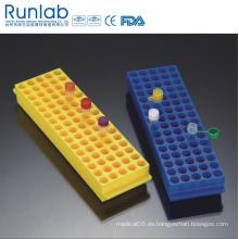 Bastidores reversibles Polyproyplene de 80 pocillos para Microtube