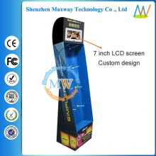 floor cardboard display with 7 inch LCD screen
