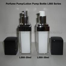 Flacon pompe de 30ml forme carrée parfum