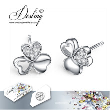 Destin bijoux cristaux de Swarovski boucles d'oreilles coeur 3 boucles d'oreilles