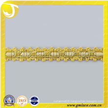 gold polyester curtain fringe trimming