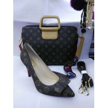 Bowtie High Heel Shoes and Matched Handbag (G-25)