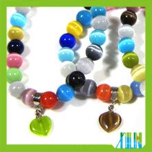 grânulos de pedras preciosas fantasia grânulos de vidro opala pulseiras