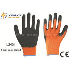 Polyester Shell Foam Latex Coated Safety Work Glove (L2401)