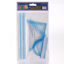 Clear Plastic Ruler Set