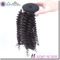 El pelo indio barato y mejor de la calidad Rizado rizado 16 18 extensiones de cabello 20 pulgadas doble trama