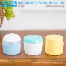 50g und 100g guter Qualität Doppelschichten verschiedene Runde Form gut aussehende Creme attraktive pp leeres Glas