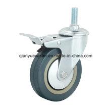 Grey Rubber/PVC Light Duty Castors