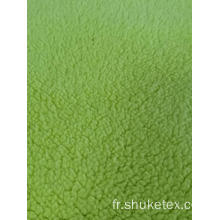 100% polyester Sherpa Fleece Solid Knitting Fabric