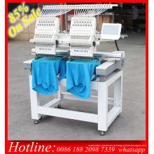 Preço de máquina de bordado do computador Holiauma duplo cabeça 15 cor para t-shirt boné bordado 3D