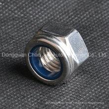 Aço Inoxidável Aço Carbono Nylon Lock Porcas DIN982 DIN985