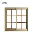 Fenêtres coulissantes en aluminium anodisé de conception confortable avec verre trempé
