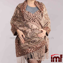 Custom Made Double Side Print Yak Wool Scarf Shawl