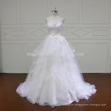 HD014 vestido de boda nupcial simple del vestido de boda del cordón de la colmena de Tulle