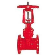 Válvula de compuerta de vástago de levantamiento de fuego de hierro dúctil