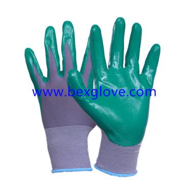 13 перчаток из нейлоновой нитриловой калибровки, сенсорный экран для пальцев