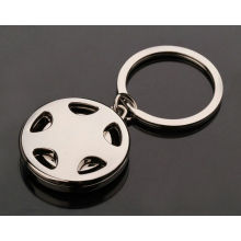 Wheel Logo Shopping Trolley Coin Key Ring for Promotion (F1390)