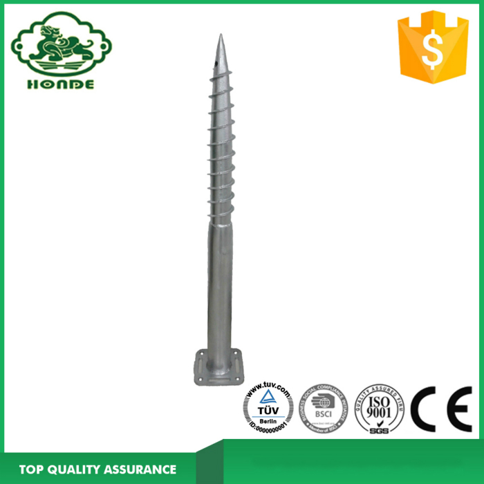 Galvanized Solar Ground Screw