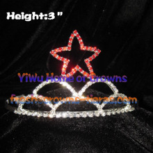3inch Red Star Pageant Crystal Tiaras