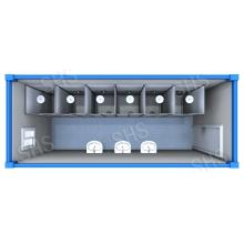 Douche Container / Salle de douche / douche avec cabine séparée (shs-fp-ablution024)