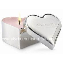 Bougie parfumée en forme de cœur de luxe