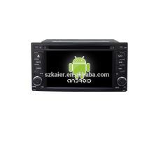 Quad core! DVD de coche con enlace de espejo / DVR / TPMS / OBD2 para pantalla táctil de 6.2 pulgadas de cuatro núcleos Sistema Android 4.4 Subaru Forester