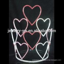 Nueva corona del desfile de la tiara del corazón del diseño