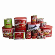 Pasta de tomate saludable marca Tmt conservada de todos los tamaños desde 70 G hasta 4.5 Kg en el precio a granel