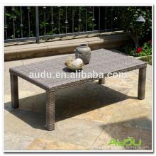 Rattan mesa de comedor de madera de picnic playa